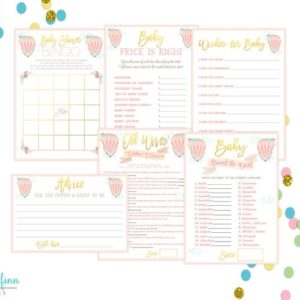 Balloon Baby Shower Multi Print Pack