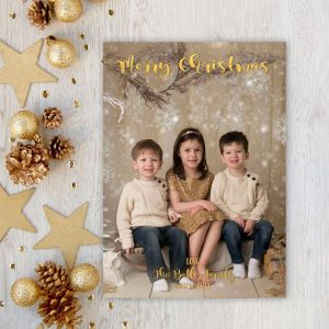 Christmas Card, Photo Christmas Card, Faux Gold Foil, Modern, Printable, Gold, Photo Card, Merry Christmas, Xmas, Digital or Printed