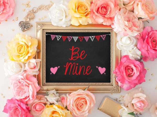 Be Mine Valentines Day Chalk Sign, Photo Prop, Printable Valentines Sign, Instant Download, Baby's First Valentines Day, Love, Kid Child