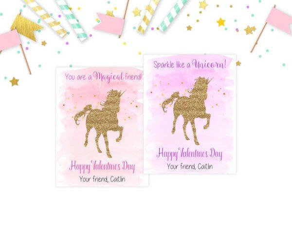 Unicorn Valentine's Day Cards, Valentines Day, School, Kid Valentines, Glitter Unicorns, Classmate, Printable, Valentines Card, Friend Cards