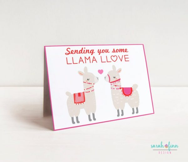 Llama Valentine's Day Card Alpaca Card Funny Card Valentine Printable Greeting Card for her Birthday Card Instant Download Gift Romantic