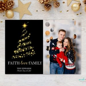 Christmas Photo Card Religious Faith Love Family Merry Christmas Photo Holiday Card Digital Printable or Printed Winter Holiday Cards