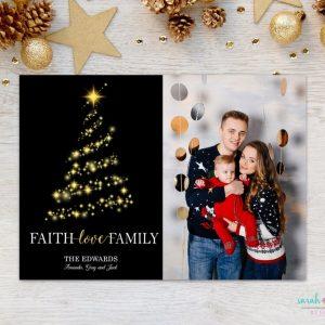 Christmas Photo Card Religious Faith Love Family Merry Christmas Photo Holiday Card Digital Printable or Printed Winter Holiday Cards