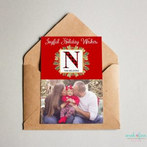 Christmas Photo Card Plaid Merry Christmas Photo Joyful Holiday Card Digital Printable or Printed Winter Holiday Cards
